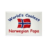 Coolest Norwegian Papa Rectangle Magnet