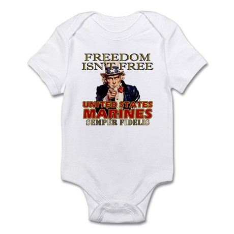 U.S. Marines Freedom Isn't Free Infant Creeper