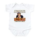 U.S. Marines Freedom Isn't Free Infant Creeper
