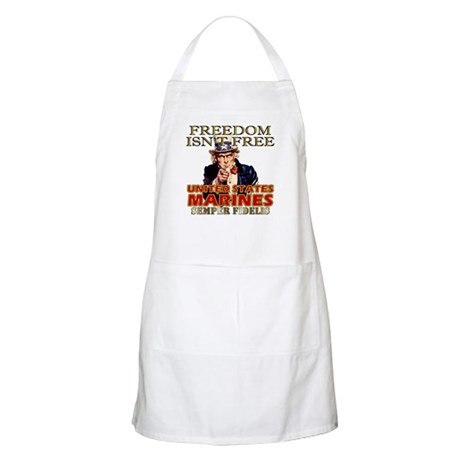 U.S. Marines Freedom Isn't Free BBQ Apron
