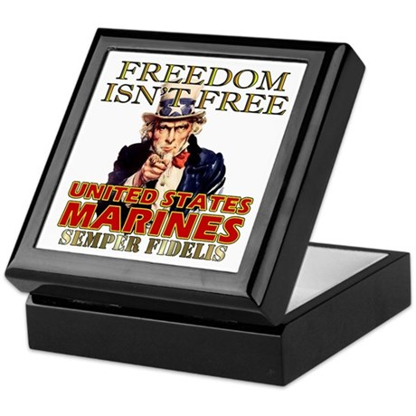 U.S. Marines Freedom Isn't Free Keepsake Box