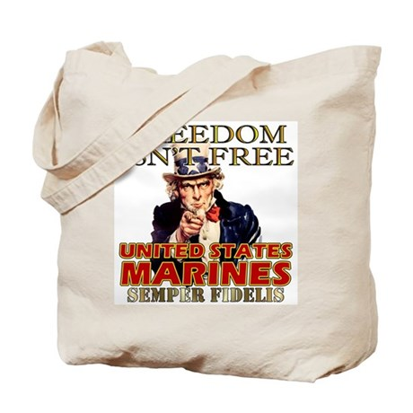 U.S. Marines Freedom Isn't Free Tote Bag