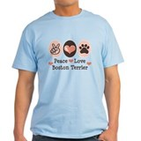 Peace Love Boston Terrier T-Shirt