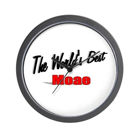 """The World's Best Moae"" Wall Clock"