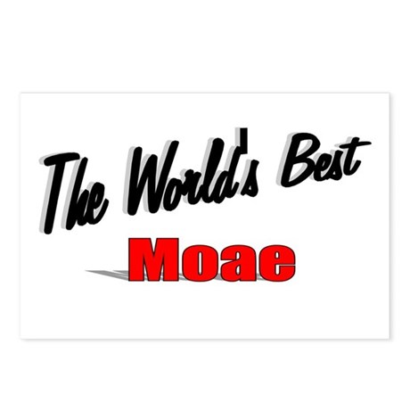"""The World's Best Moae"" Postcards (Package of 8)"
