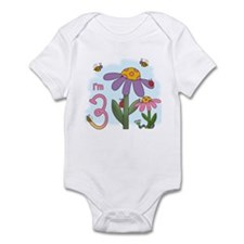 Silly Garden 3rd Birthday Infant Bodysuit