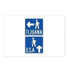 Pedestrian Crossing Tijuana-USA, US Postcards (Pac