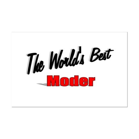"""The World's Best Moder"" Mini Poster Print"