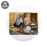 "Domestic Flight Pigeons 3.5"" Button (10 pack)"