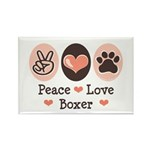 Peace Love Boxer Rectangle Magnet (100 pack)