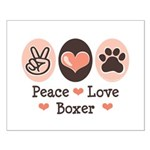 Peace Love Boxer Small Poster