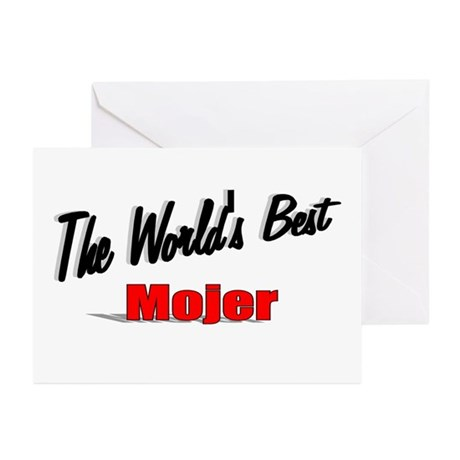 """The World's Best Mojer"" Greeting Cards (Pk of 20)"
