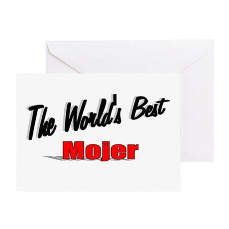 """The World's Best Mojer"" Greeting Card"