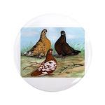 """Shortfaced Tumbler Pigeons 3.5"""" Button (100 p"""