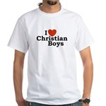 I loves Christian Boys White T-Shirt