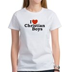 I loves Christian Boys Women's T-Shirt