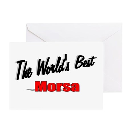 &quot;The World's Best Morsa&quot; Greeting Cards (Pk of 10)