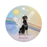 Doberman Angel (Madeline) Ornament (Round)