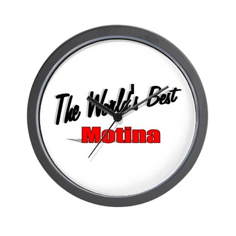 """The World's Best Motina"" Wall Clock"