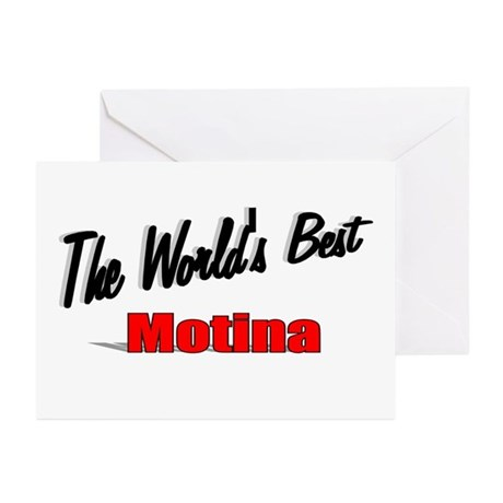 """The World's Best Motina"" Greeting Cards (Pk of 10"