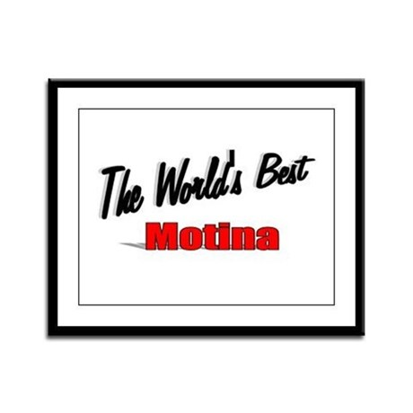 """The World's Best Motina"" Framed Panel Print"