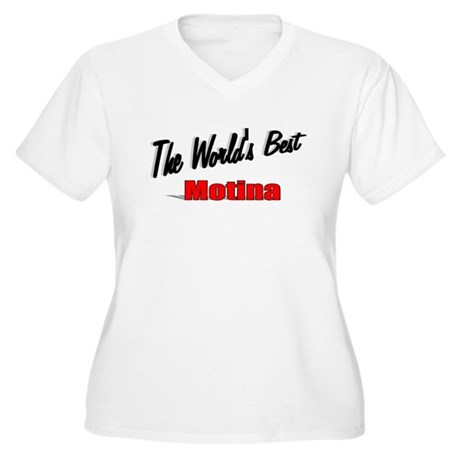 """The World's Best Motina"" Women's Plus Size V-Neck"