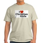 I love Christian Girls Ash Grey T-Shirt