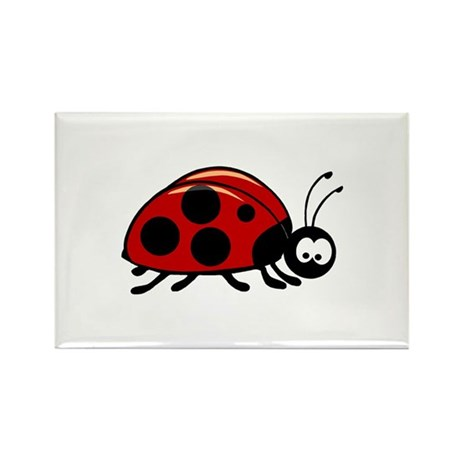 Ladybug Rectangle Magnet (100 pack)