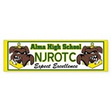 Alma NJROTC bumper stickers Bumper Car Sticker