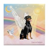 Doberman Pinscher Angel (Nat) Tile Coaster