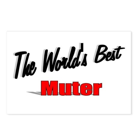 """The World's Best Muter"" Postcards (Package of 8)"