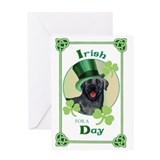 St. Patrick Black Lab Greeting Card