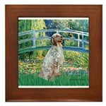 Bridge / English Setter Framed Tile