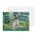 Bridge / English Setter Greeting Card