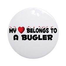 Belongs To A Bugler Ornament (Round)