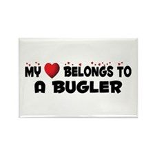 Belongs To A Bugler Rectangle Magnet (10 pack)