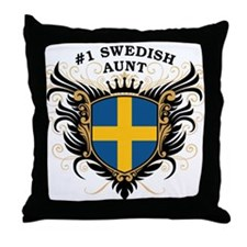 Number One Swedish Aunt Throw Pillow