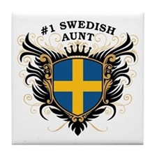 Number One Swedish Aunt Tile Coaster