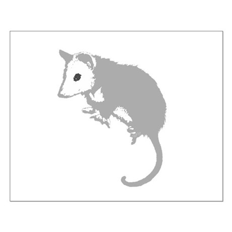 Possum Silhouette Small Poster