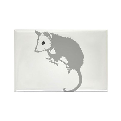 Possum Silhouette Rectangle Magnet (100 pack)