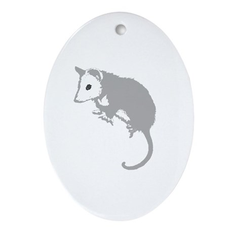 Possum Silhouette Oval Ornament