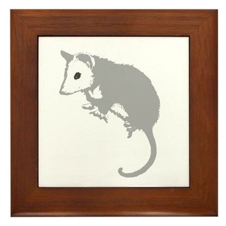 Possum Silhouette Framed Tile