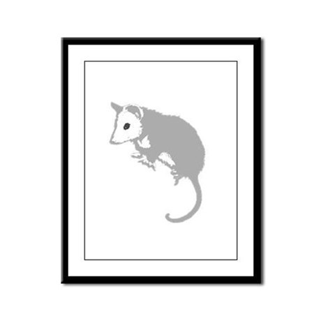 Possum Silhouette Framed Panel Print