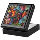 Cute Abstract squares Keepsake Box