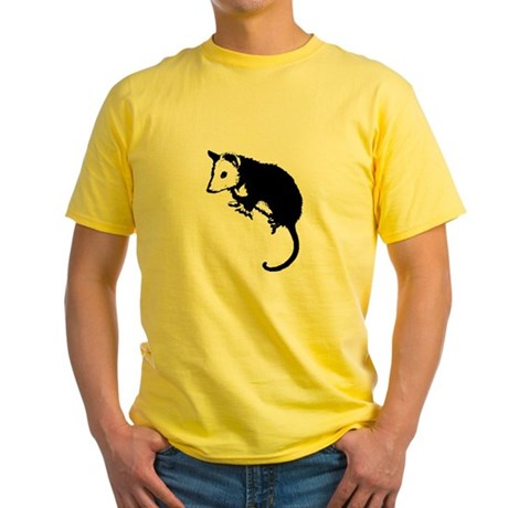 Possum Silhouette Yellow T-Shirt