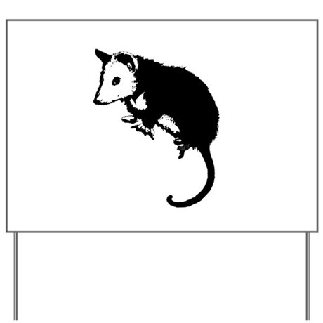 Possum Silhouette Yard Sign