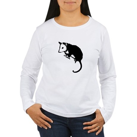 Possum Silhouette Women's Long Sleeve T-Shirt