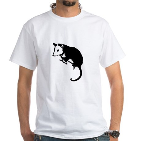 Possum Silhouette White T-Shirt