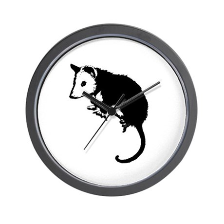 Possum Silhouette Wall Clock