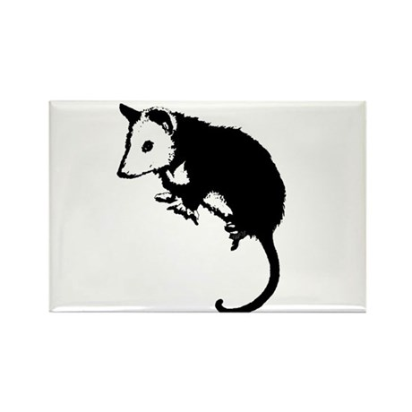 Possum Silhouette Rectangle Magnet